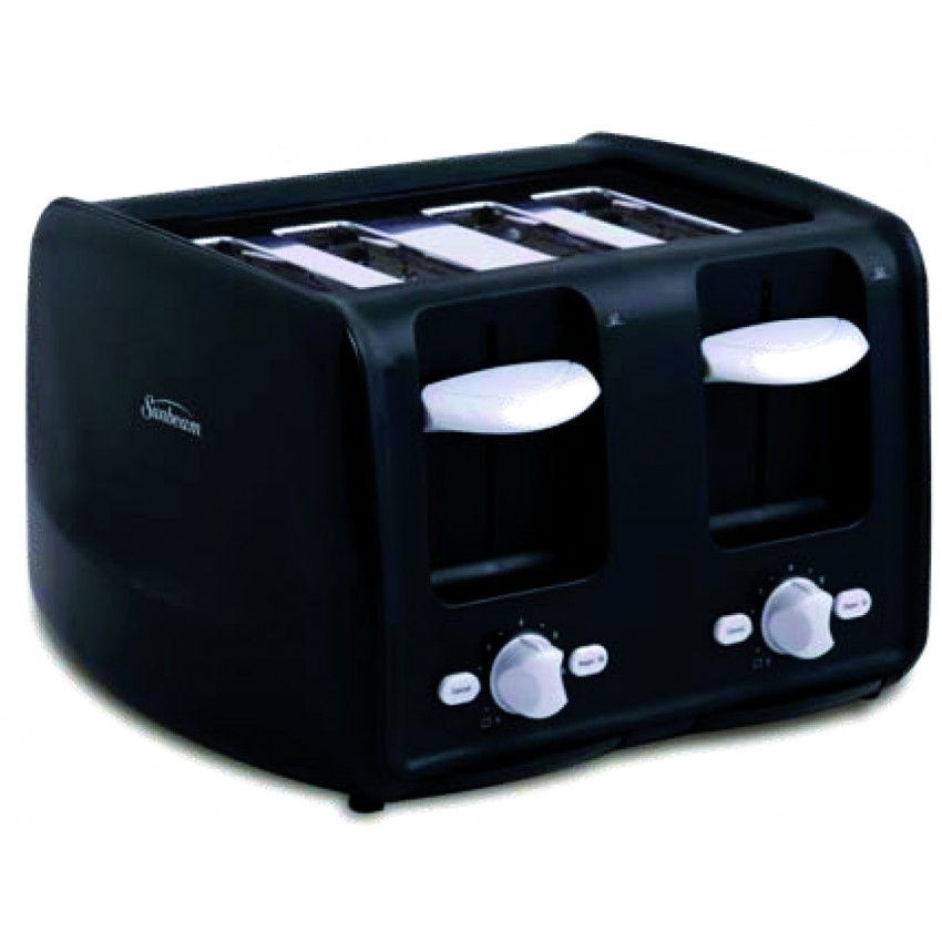 grille pain noir 4 tranches 1500 watts cuisina. Black Bedroom Furniture Sets. Home Design Ideas