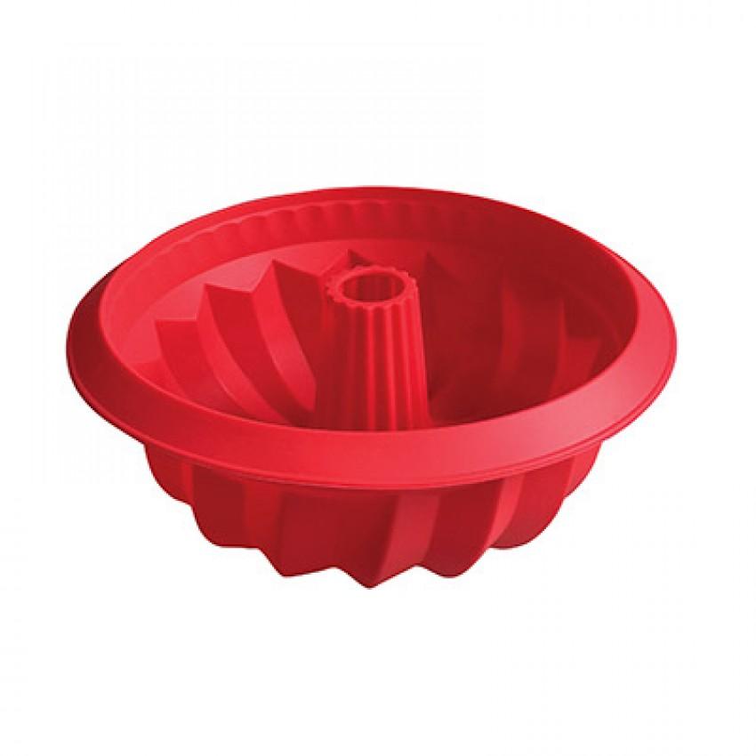 moule À gÂteau cheminÉe rouge en silicone | cuisina