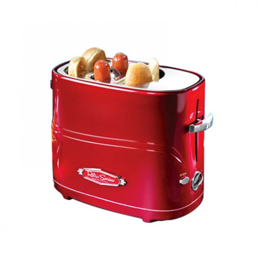 grille pain hotdog rouge r tro 650 watts nostalgia cuisina. Black Bedroom Furniture Sets. Home Design Ideas