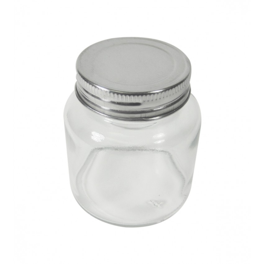 pot 150 ml en verre avec couvercle kitchen basics cuisina