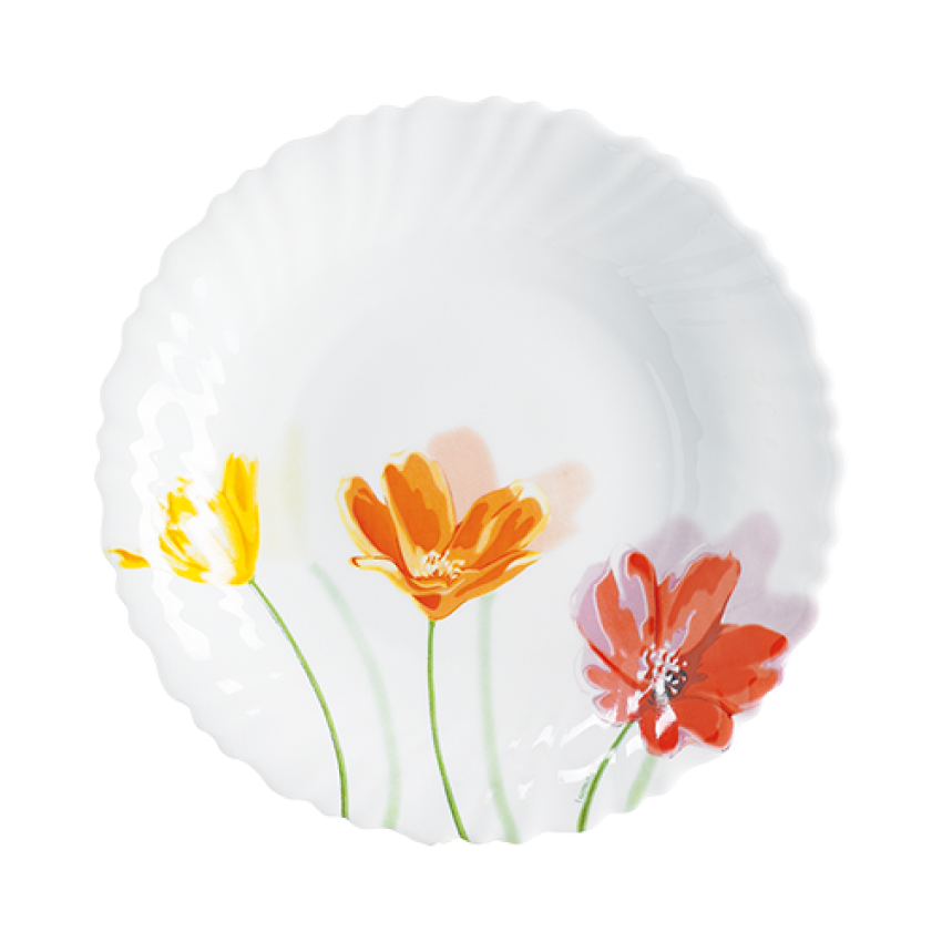 ASSIETTE CREUSE 21 CM OPAL FLOWERLY