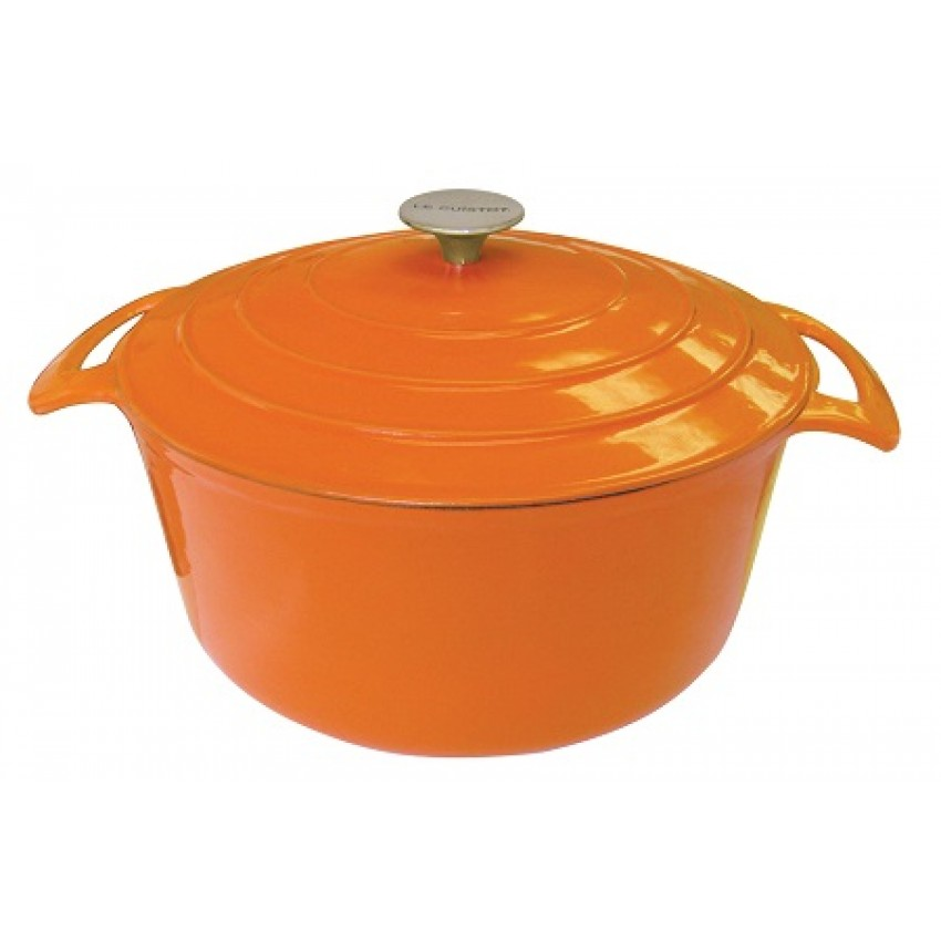 FAITOUT ROND 28 CM 7L ORANGE CLASSY VIEILLE FRANCE