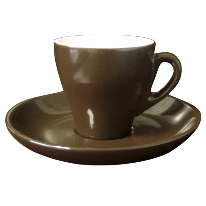 tasse et soucoupe expresso brun cuisina. Black Bedroom Furniture Sets. Home Design Ideas