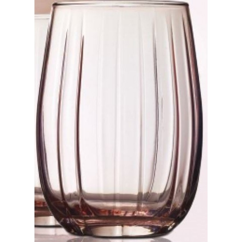 ENSEMBLE DE 4 VERRES ROSE DE FORME BASSE 380 ML LOTUS
