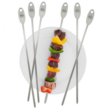 ENSEMBLE DE 6 BROCHETTES 30 CM BBQ DEVIL