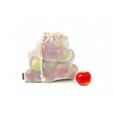SACS RÉUTILISABLES POUR FRUITS ET LÉGUMES 4 PIÈCES