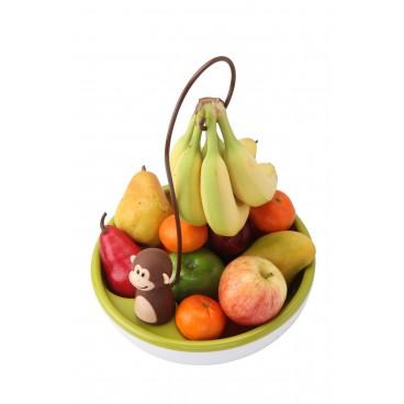 BOL À FRUITS AVEC SUPPORT À BANANES MONKEY
