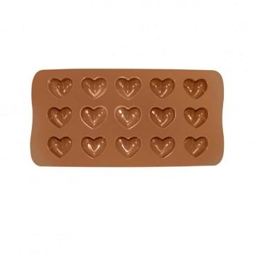MOULE À CHOCOLAT EN SILICONE EN FORME DE COEUR CHOCOLAT (