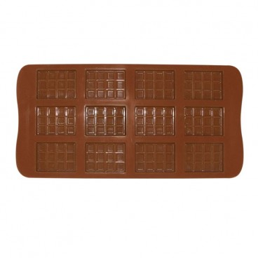 MOULE À CHOCOLAT EN SILICONE EN FORME RECTANGLE CHOCOLAT