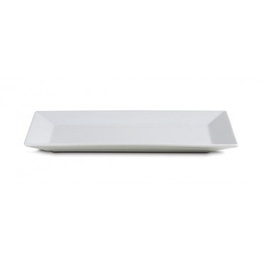 PLATEAU RECTANGLE BLANC 34 CM X18 CM FLO
