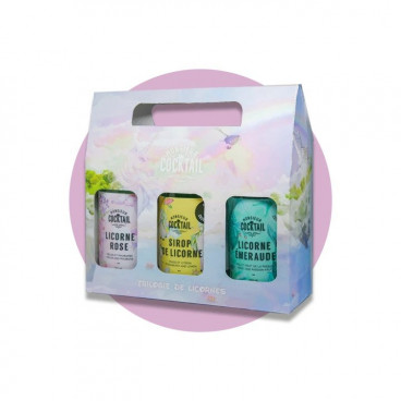 COFFRET TRILOGIE DE LICORNES 3 X 250ML MONSIEUR COCKTAILS
