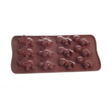 MOULE À CHOCOLAT EN SILICONE EN FORME DE DINO CHOCOLAT