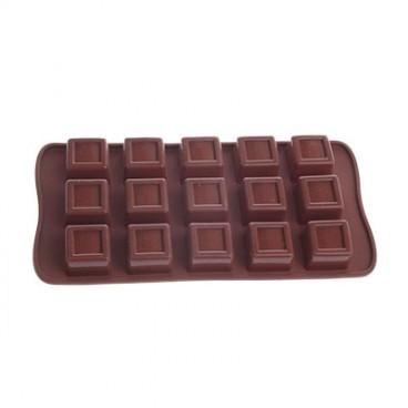 MOULE À CHOCOLAT EN SILICONE EN FORME CARRÉ