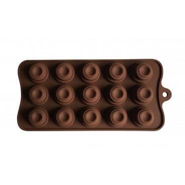 MOULE À CHOCOLAT EN SILICONE FORME GÂTEAUX