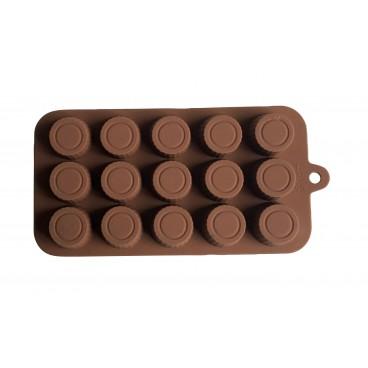 MOULE À CHOCOLAT EN SILICONE HAUT ROND