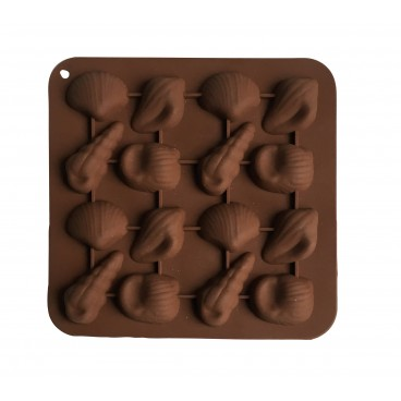 MOULE À CHOCOLAT EN SILICONE FORME COQUILLAGES