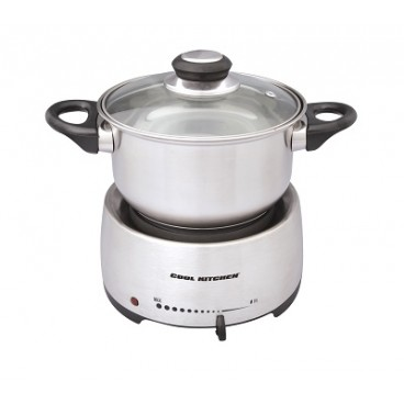 FONDUE ÉLECTRIQUE INOX. 1200 WATTS COOL KITCHEN PRO