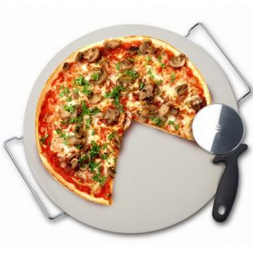 PIERRE À PIZZA/COUTEAU 37CM