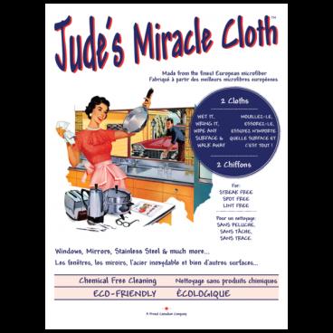 2 CHIFFONS BLANC ET BLEU JUDE'S MIRACLE CLOTH