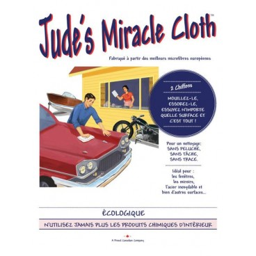 2 CHIFFONS GRIS JUDE'S MIRACLE CLOTH