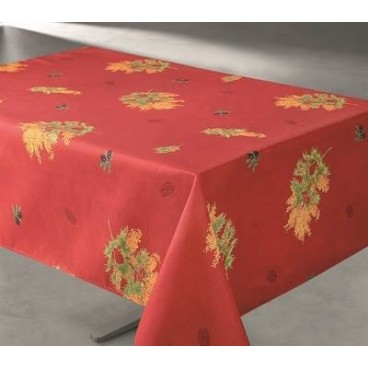 NAPPE 70 PO CARRÉE MIMOSA ROUGE