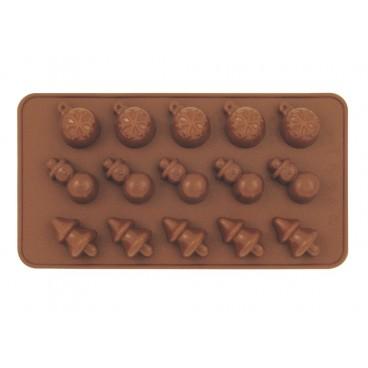 MOULE À CHOCOLAT EN SILICONE POUR NOËL