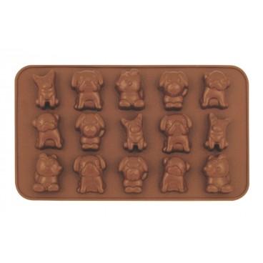 MOULE À CHOCOLAT EN SILICONE EN FORME DE CHIEN CHOCOLAT