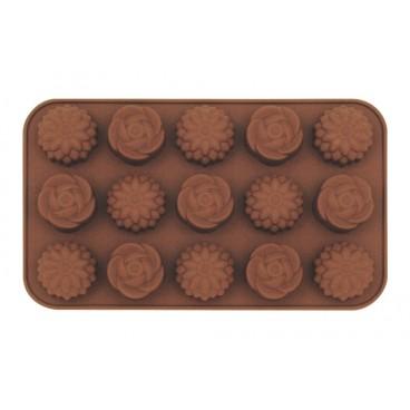 MOULE À CHOCOLAT EN SILICONE EN FORME DE FLEURS