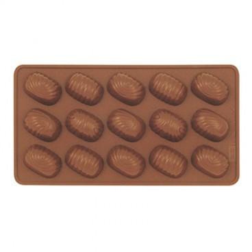 MOULE À CHOCOLAT EN SILICONE DE FORME OVALE