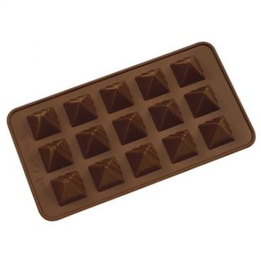 MOULE À CHOCOLAT EN SILICONE EN FORME DE PYRAMIDE