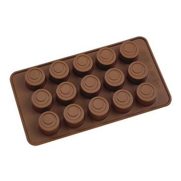 MOULE À CHOCOLAT EN SILICONE EN FORME DE ROND