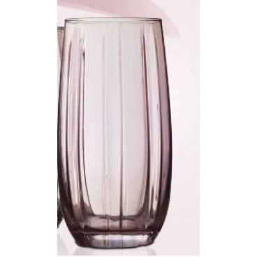 ENSEMBLE DE 4 VERRES ROSE DE FORME HAUTE 500 ML LOTUS