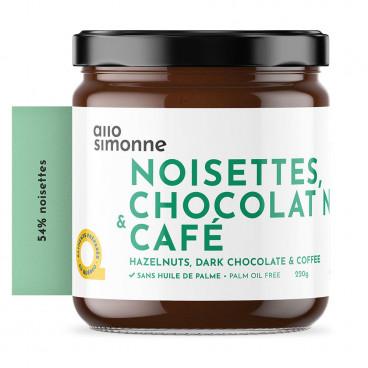 TARTINADE CHOCOLAT NOIR & CAFÉ 220G ALLO SIMONNE