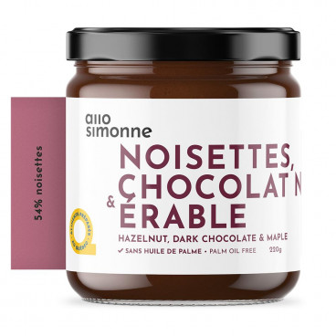 TARTINADE CHOCOLAT NOIR & ÉRABLE 220G ALLO SIMONNE