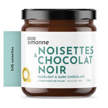TARTINADE NOISETTES & CHOCOLAT NOIR 220G ALLO SIMONNE